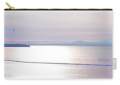 Lake Champlain South From Atop Battery Park Wall Panorama Carry-all Pouch by Felipe Adan Lerma