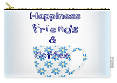 Friends And Coffee  - Kitchen Typography Carry-all Pouch