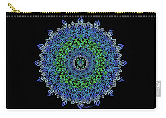Tara's Tribal Turtle Mandala Carry-all Pouch