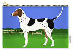 German Shorthaired Pointer In A Field Carry-all Pouch by Marian Cates