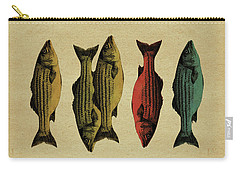 Carry-all Pouch featuring the drawing One Fish, Two Fish . . . by Meg Shearer