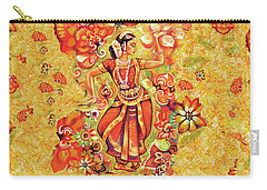 Ganges Flower Carry-all Pouch by Eva Campbell
