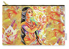 Pray Of The Lotus River Carry-all Pouch by Eva Campbell