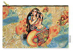 Aanandinii And The Fishes Carry-all Pouch by Eva Campbell