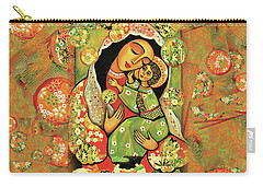 Madonna And Child Carry-all Pouch by Eva Campbell