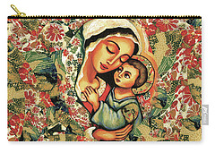 Carry-all Pouch featuring the painting The Blessed Mother by Eva Campbell