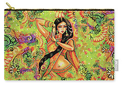 Carry-all Pouch featuring the painting Dancing Nithya by Eva Campbell
