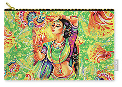 Carry-all Pouch featuring the painting The Dance Of Tara by Eva Campbell
