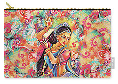 Carry-all Pouch featuring the painting Dancing Of The Phoenix by Eva Campbell