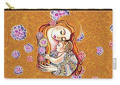 Carry-all Pouch featuring the painting Little Angel Sleeping by Eva Campbell