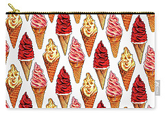 Soft Serve Pattern Carry-all Pouch