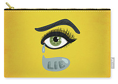 Green Lying Eye With Tears Carry-all Pouch