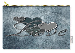 Silver Love Carry-all Pouch