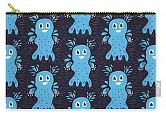 Undiscovered Blue Cute Sea Creature Carry-all Pouch