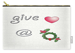 Give Love At Christmas Carry-all Pouch
