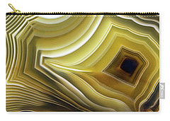 Earth Treasures - Yellow Agate Carry-all Pouch by Jaroslaw Blaminsky