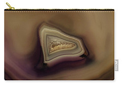 Earth Treasures - Brown Agate Carry-all Pouch by Jaroslaw Blaminsky