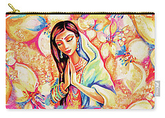 Carry-all Pouch featuring the painting Little Himalayan Pray by Eva Campbell