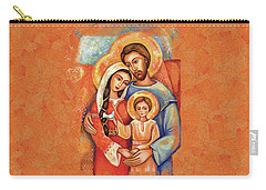 Carry-all Pouch featuring the painting The Holy Family by Eva Campbell
