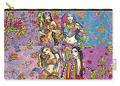 Eastern Flower Carry-all Pouch