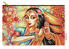 Carry-all Pouch featuring the painting Sun Ray Dance by Eva Campbell