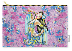Carry-all Pouch featuring the painting Amrita by Eva Campbell