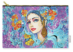 Carry-all Pouch featuring the painting The Veil Of Aish by Eva Campbell