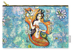 Carry-all Pouch featuring the painting A Letter From Far Away by Eva Campbell