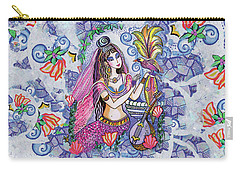 Carry-all Pouch featuring the painting Scheherazade's Bird by Eva Campbell