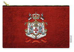 Knights Templar - Coat Of Arms Over Red Velvet Carry-all Pouch