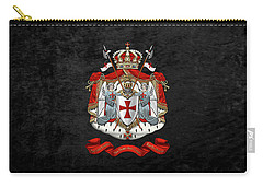 Knights Templar - Coat Of Arms Over Black Velvet Carry-all Pouch