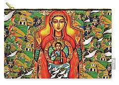 Carry-all Pouch featuring the painting Our Lady Of The Sign by Eva Campbell