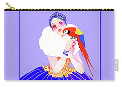 Vintage Dancer With Parrot Carry-all Pouch