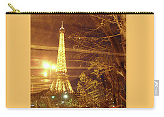Eiffel Tower By Bus Tour Carry-all Pouch by Felipe Adan Lerma