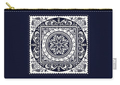 Deep Blue Classic Mandala Carry-all Pouch