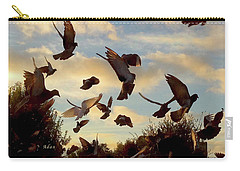 Birds And Fun At Butler Park Austin - Birds 1 Carry-all Pouch by Felipe Adan Lerma