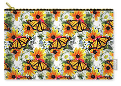 Carry-all Pouch featuring the mixed media Butterfly Pattern by Christina Rollo