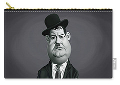 Celebrity Sunday - Oliver Hardy Carry-all Pouch by Rob Snow