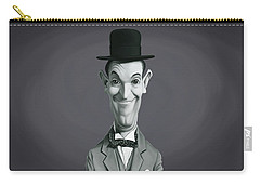 Celebrity Sunday - Stan Laurel Carry-all Pouch by Rob Snow