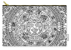 Aztec Sun Carry-all Pouch by Taylan Apukovska