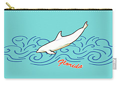 Florida Dolphin Print Carry-all Pouch by Methune Hively