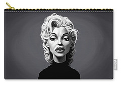 Carry-all Pouch featuring the digital art Celebrity Sunday - Marilyn Monroe by Rob Snow