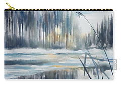 Carry-all Pouch featuring the digital art Snow From Yesterday by Ivana Westin