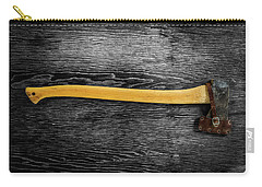 Tools On Wood 11 On Bw Carry-all Pouch by YoPedro
