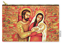 Carry-all Pouch featuring the painting Holy Family by Eva Campbell