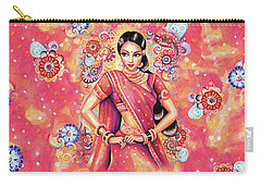 Carry-all Pouch featuring the painting Devika Dance by Eva Campbell