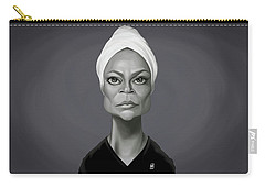 Celebrity Sunday - Eartha Kitt Carry-all Pouch by Rob Snow