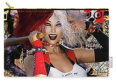 Carry-all Pouch featuring the digital art It Wasn't Me by Shanina Conway
