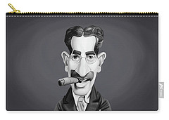 Celebrity Sunday - Groucho Marx Carry-all Pouch by Rob Snow