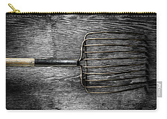 Tools On Wood 25 On Bw Carry-all Pouch by YoPedro